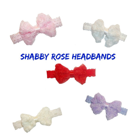 Baby Girls' Shabby Rose Headbands - Colors