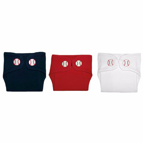 Baby Boy's Baseball Diaper Covers. Premature Babies, Micro Preemie and Newborn