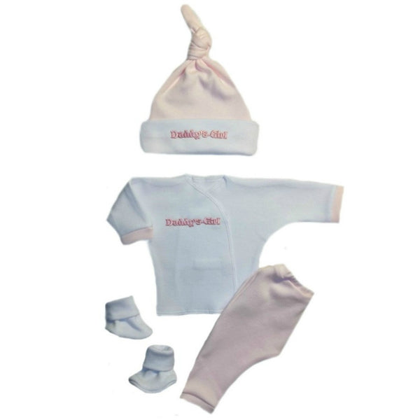 Preemie and Newborn Daddy's Girl 4 Piece Baby Clothing Outfit