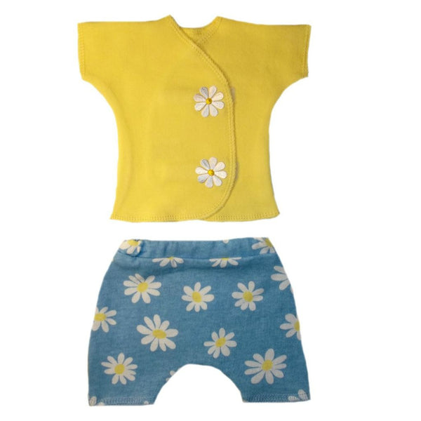 Baby Girls' Delighful Daisies Short Set for Micro Preemie, Premature Babies and Newborns,