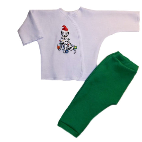 Unisex Baby Christmas Silly Dalmatian Clothing Outfit 4 Preemie and Newborn Sizes