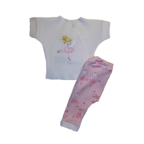 Preemie and Newborn Baby Girls' Dancing Ballerina and Bears Pants Clothing Outfit