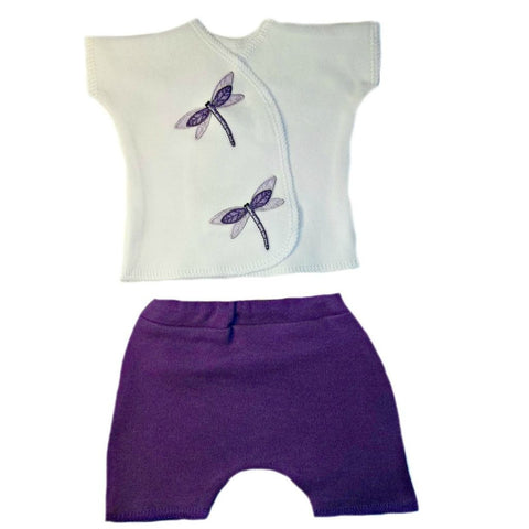9106bc442 Baby Girls' Darling Dragonfly Shorts Set for NICU Micro Preemie, Premature  Babies and Newborns