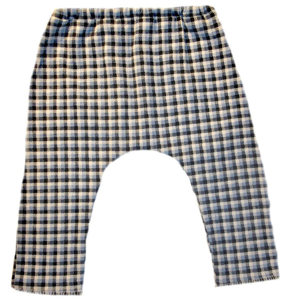 Baby Boys' Blue Plaid Checkered Pants for Preemie Newborn and Toddlers