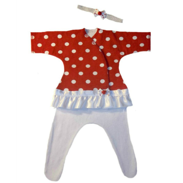 Baby Girls' Red Polka Dot Fun Dress for Preemie and Newborn