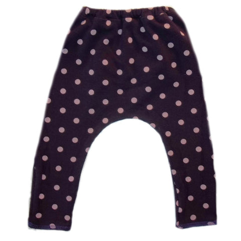 Toddler, Newborn and Preemie Baby Girl Leggings! Purple with Pink Polka Dots!