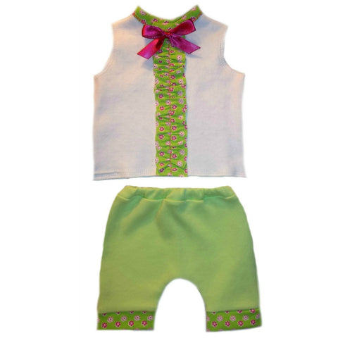 Baby Girls' Summertime Flowers Shorts Set for NICU Micro Preemie, Premature Babies and Newborns,