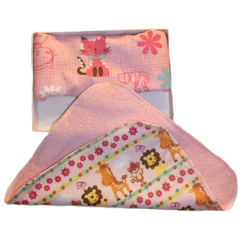 Baby Girls' Animal Fun Washcloths Set of Two