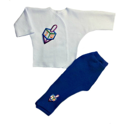 Preemie and Newborn Baby Boys' Darling Dreidel Two Piece Outfit