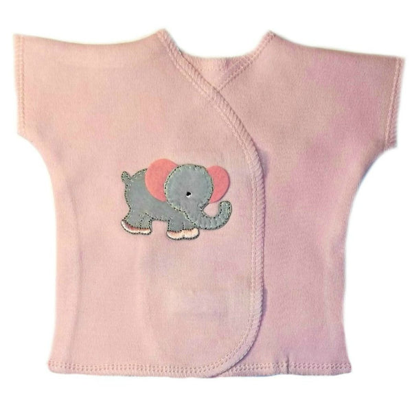 Baby Girls' Eager Elephant T-Shirt for Preemie, Micro Preemies and Newborn Infants.