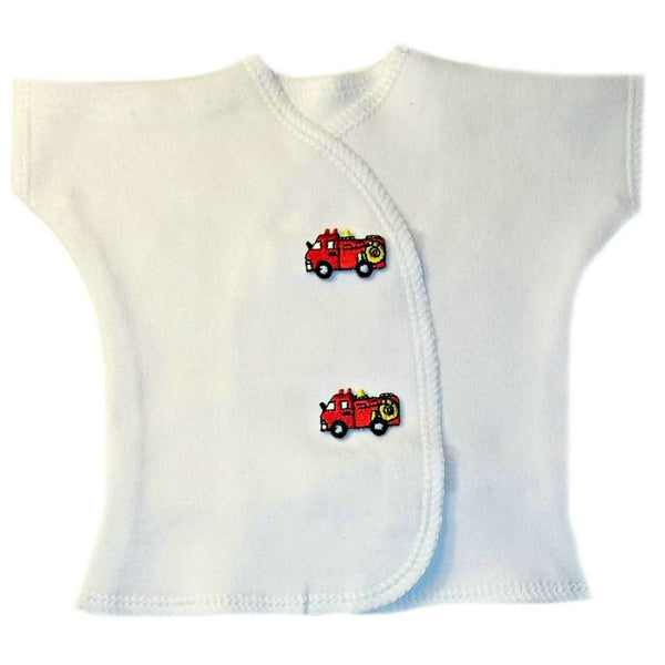 Baby Boys' Red Fire Truck Shirt for Premature Babies, NICU Micro Preemie and Newborns