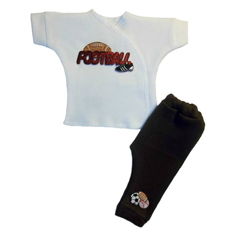Baby Boys' Touch Down Football Clothing Set Sized For Preemie and Newborn Babies