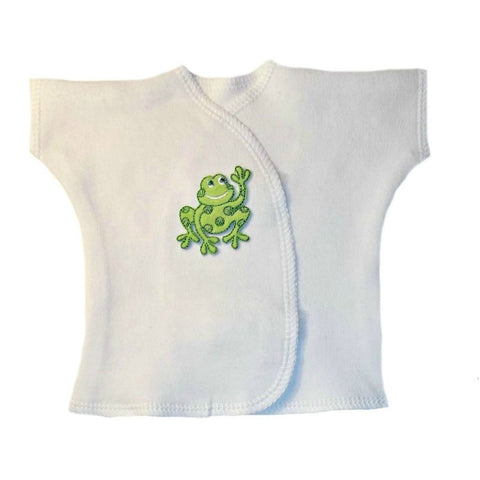 Unisex Baby Happy Frog Shirt. For Premature Babies, Preemie and Newborn Infants.