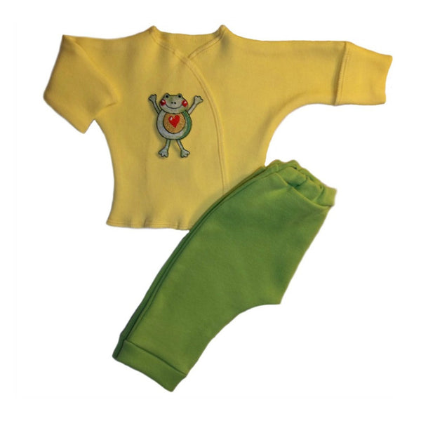 Jump for Joy Little Frog 2 Piece Baby Clothing Outfit
