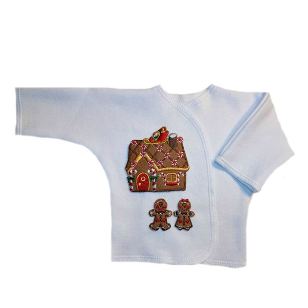 Gingerbread House Baby Christmas Long Sleeve Shirt