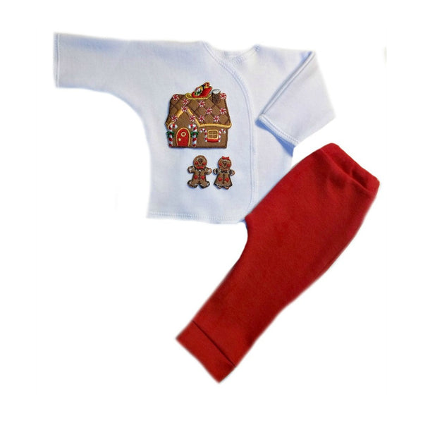 Preemie and Newborn Gingerbread House Christmas Baby Clothing Set