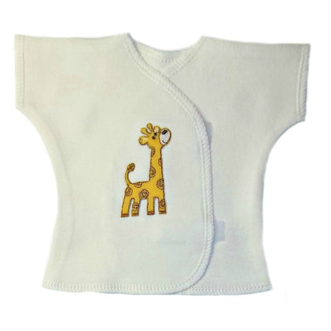 Unisex Baby Gentle Giraffe T-Shirt for Premature Babies, Preemie and Newborns