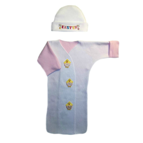 Baby Girls' Easter Chick Bunting Gown and Cap Set