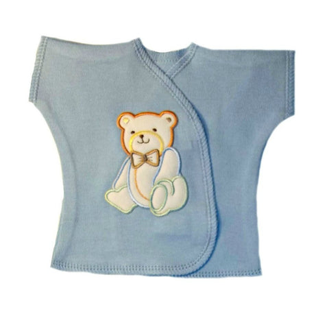 Baby Boys' Handsome Bear T-Shirt for Premature Babies, NICU Micro Preemie and Newborns
