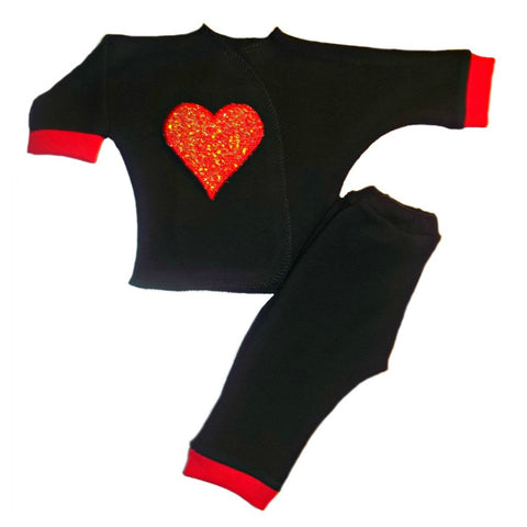Unisex Baby Heartbreaker 2 Piece Clothing Outfit Set