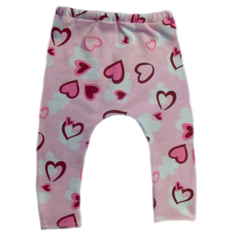 Baby Girls' Hearts Preemie and Newborn Leggings