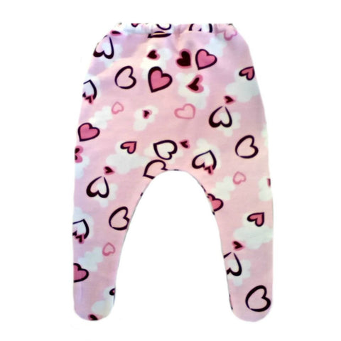 Baby Girl Tights with Pink Hearts