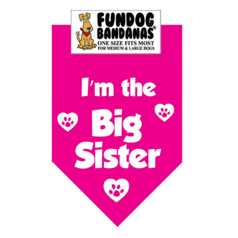 I'm the Big Sister Dog Bandana