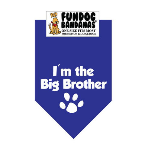 I'm the Big Brother Dog Bandana