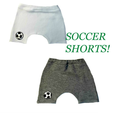Unisex Baby Soccer Shorts. For Premature Babies, Preemie, Newborn and Toddlers.