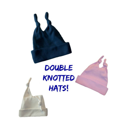 Toddler, Newborn and Preemie Double Knotted Baby Hats!