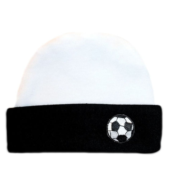 Black Baby Boys' Soccer Ball Hat, Available for preemie and newborns