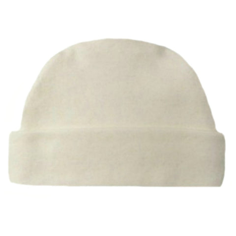 Newborn and Preemie Ivory Capped Unisex Baby Hat