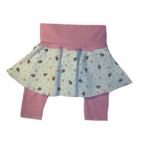 Baby Girls' Ladybug Skirt and Capri Leggings for Preemie, Newborn and Toddler
