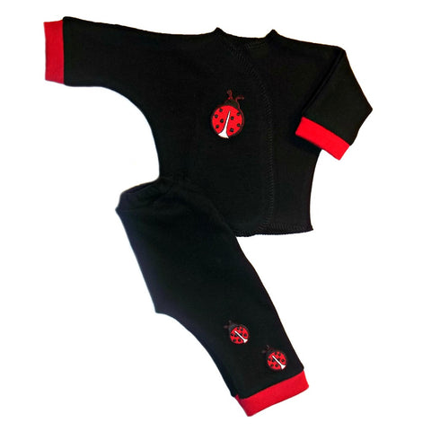Unisex Baby Red Ladybug 2 Piece Clothing Outfit
