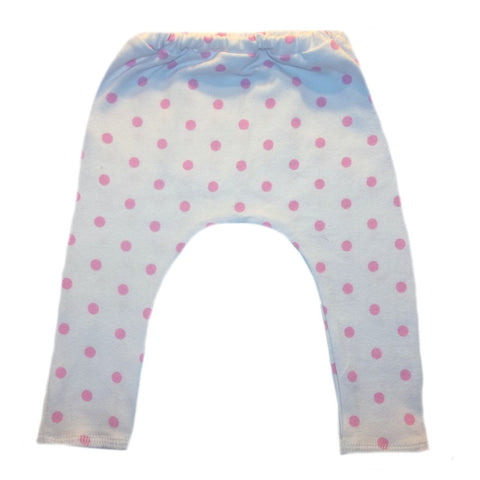 Toddler, Newborn and Preemie Pink Polka Dot Baby Girl Leggings!