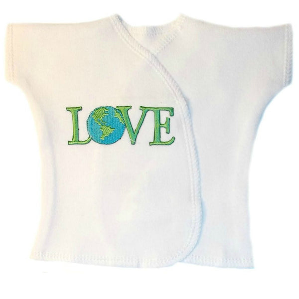 Unisex Baby Love the Earth Shirt Sized For Preemie and Newborn Babies