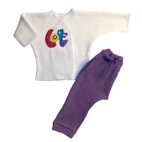 Smiling LOVE 2 Piece Baby Girl Clothing Outfit