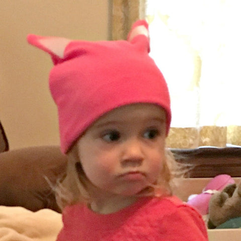 Pink Cat Hat with Ears for Baby, Child, Youth and Adults