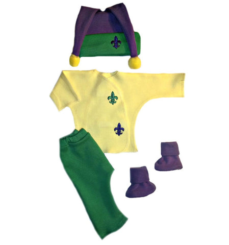 Unisex Baby Mardi Gras Clothing Outfit