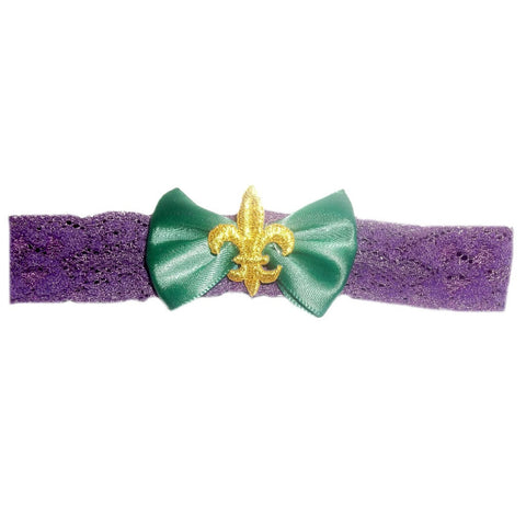 Baby Girls' Mardi Gras Headband for Preemies, Newborn and Infants