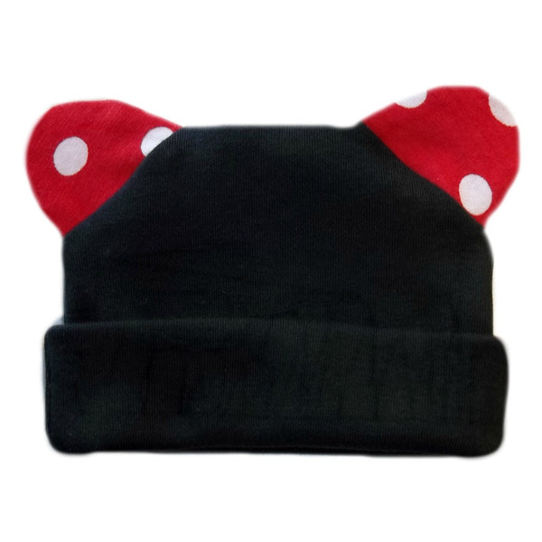 Unisex Baby Red Mouse Hat with Polka Dot Ears!