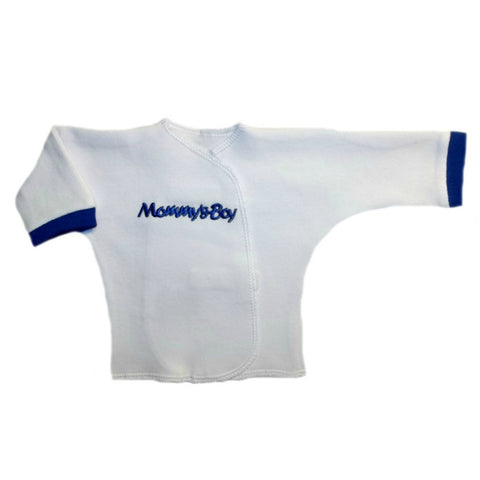 Newborn and Preemie Mommy's Boy Long Sleeve Baby Shirt