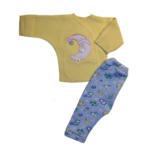 Baby Boys' Smiling Moon Shirt and Pants Clothing Set