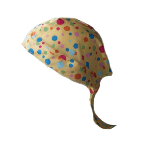 Multi Color Polka Dots Scrub Caps for Surgeons, Doctors and Nurses