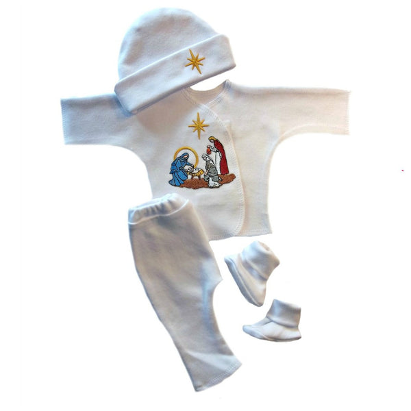 Baby Boy Christmas Nativity Clothing Set is sized for Preemie and Newborn Babies
