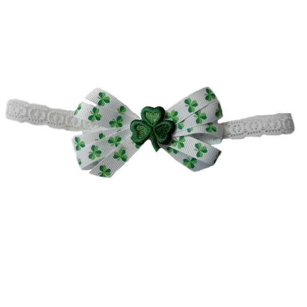 Baby Girls' Sweet Irish Headband Sized For Preemie and Newborn Babies