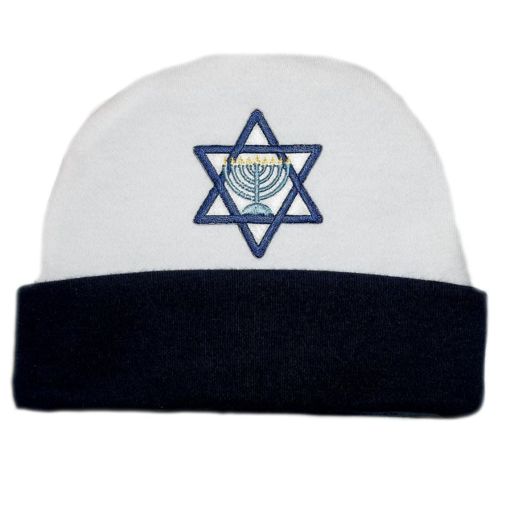 Baby Boys  Navy Blue Star of David Hanukkah Hat Sized For Preemie and Newborn  Babies a2cc6b7423e2