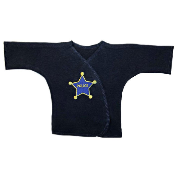 Baby Boys' Police Officer Shirt Sized For Preemie and Newborn Babies