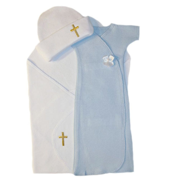Baby Boys' Preemie Burial Cross Wrap Sized For Preemie and Newborn Babies
