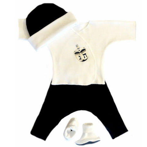 Baby Boys' Hanukkah Dreidel Clothing Set Sized for Preemie and Newborn Babies